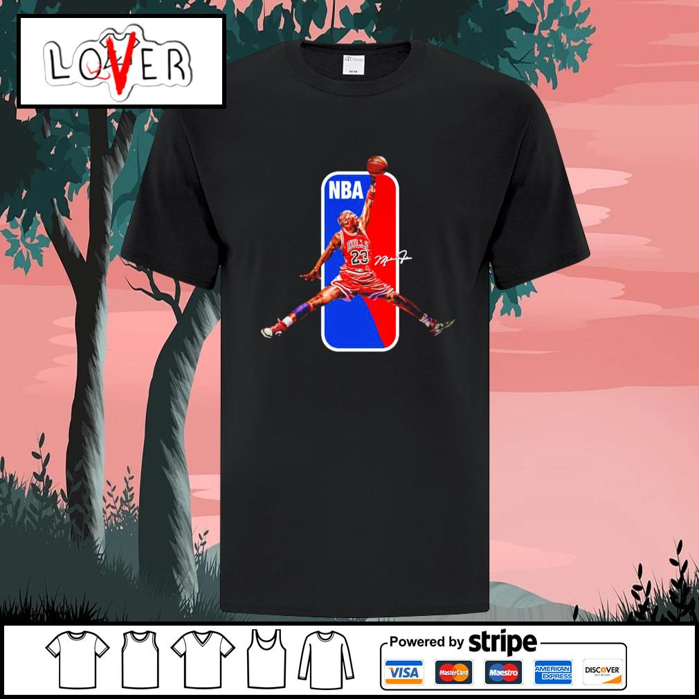 Michael Jordan Chicago Bulls NBA basketball signature shirt