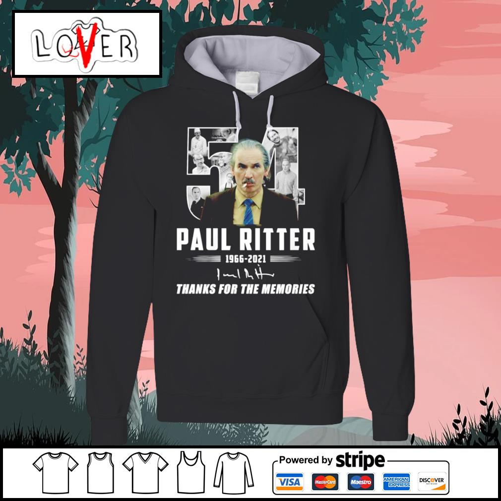 54 Paul Ritter thank you for the memories 1966 2021 signature Hoodie