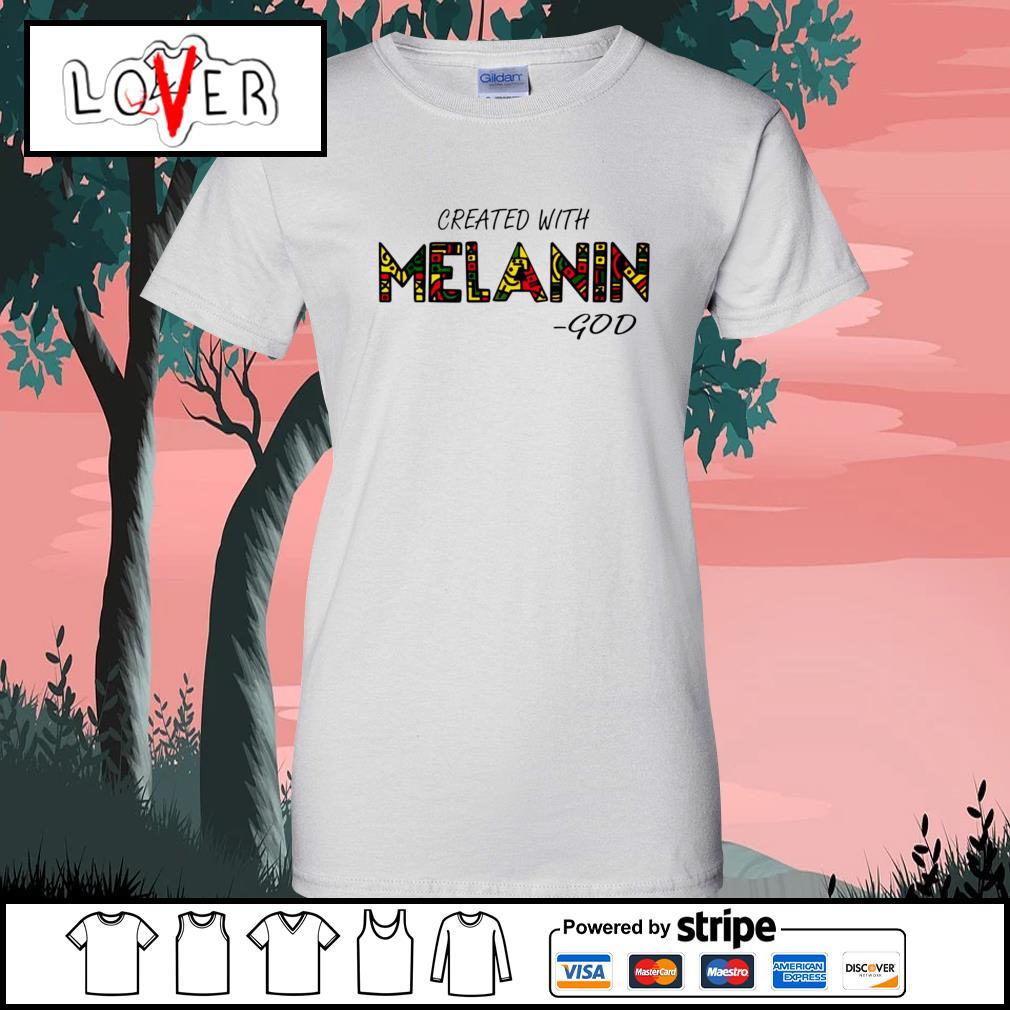 Created with Melanin God Ladies-Tee