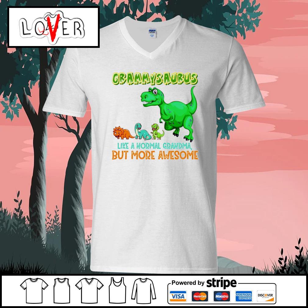 Grammysaurus liike a normal grandma but more awesome V-neck-T-shirt
