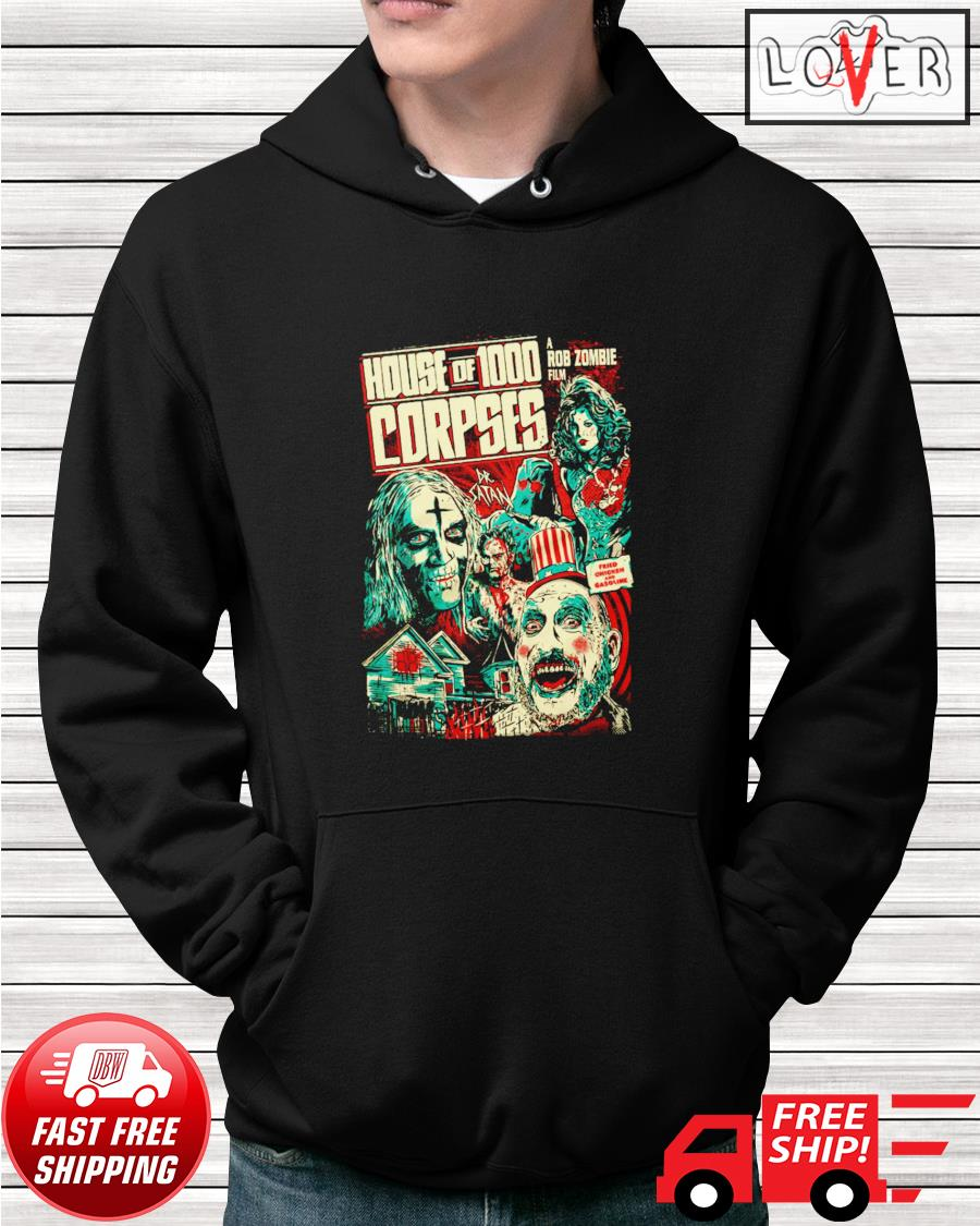 House of 1000 corpses fried chicken and gasoline hoodie