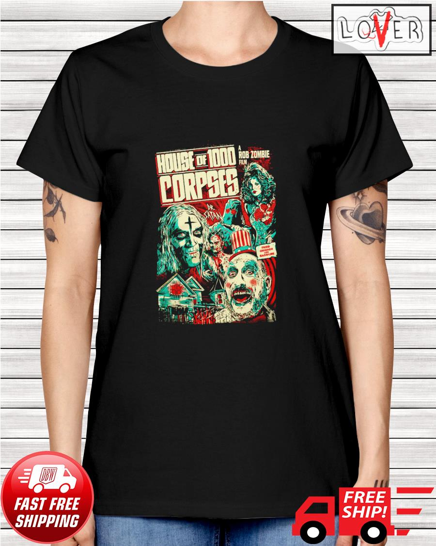 House of 1000 corpses fried chicken and gasoline ladies-tee