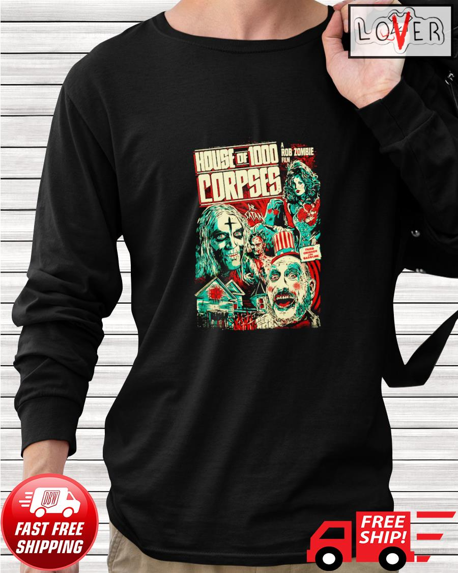 House of 1000 corpses fried chicken and gasoline longsleeve-tee