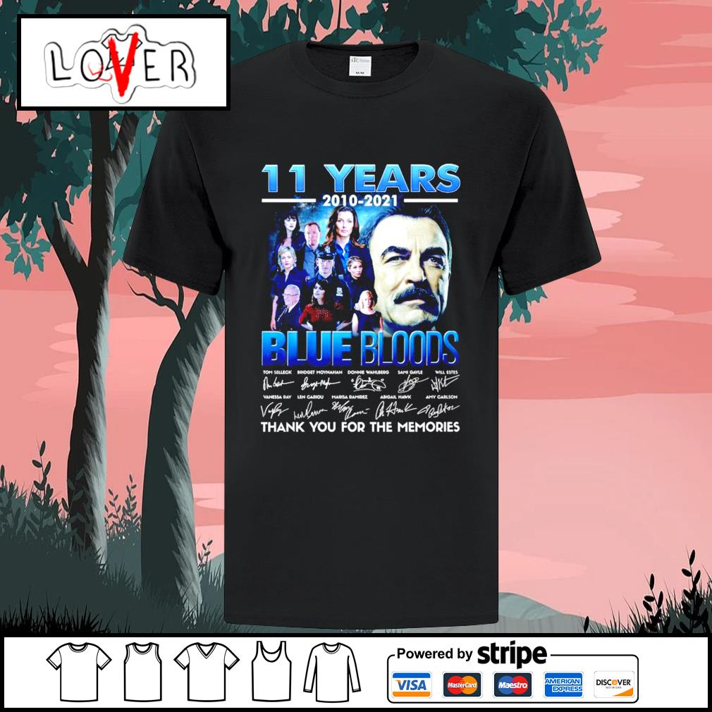 11 years 2010 2021 Blue Bloods thank you for the memories shirt