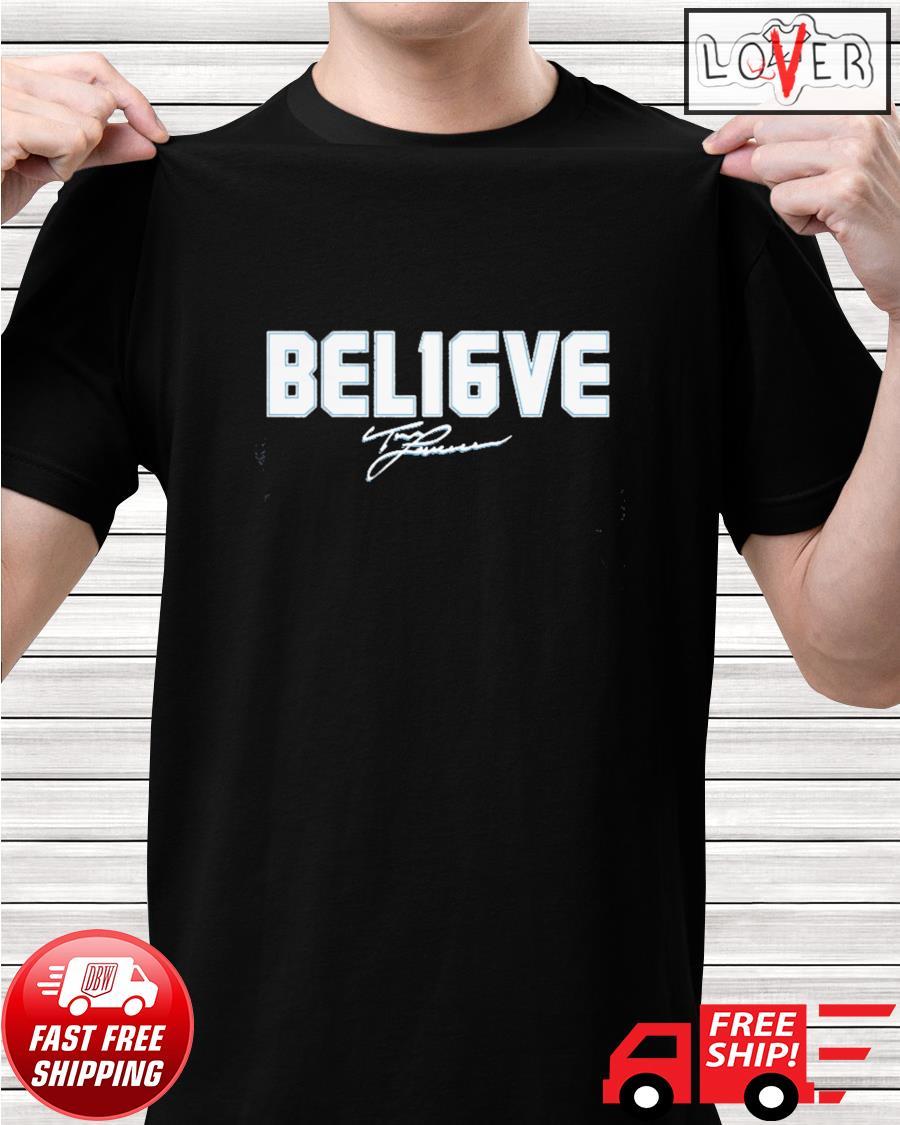 Trevor Lawrence Bel16ve signature shirt