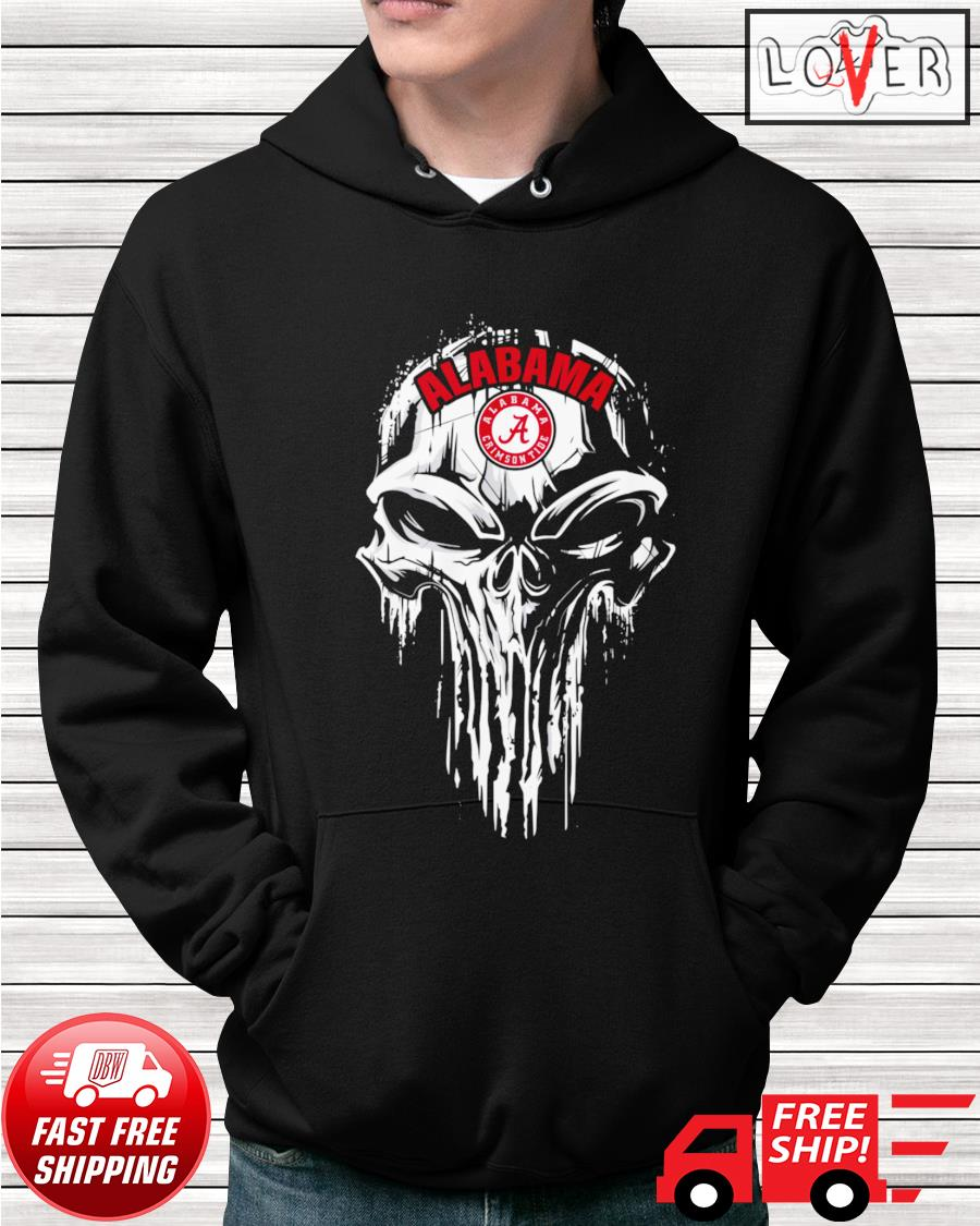 Alabama Crirmson Tide skull hoodie