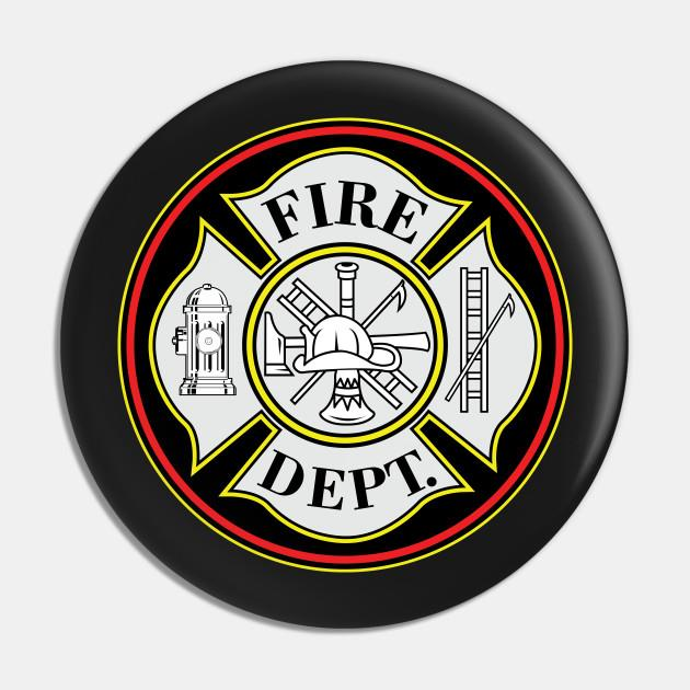 Fire Department Firefighters Badge Pin