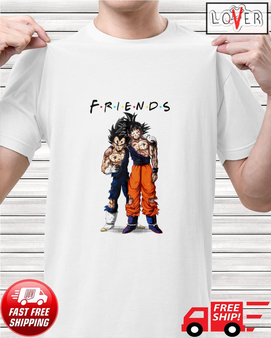Goku and Vegeta Friends TV Show Dragon Ball shirt