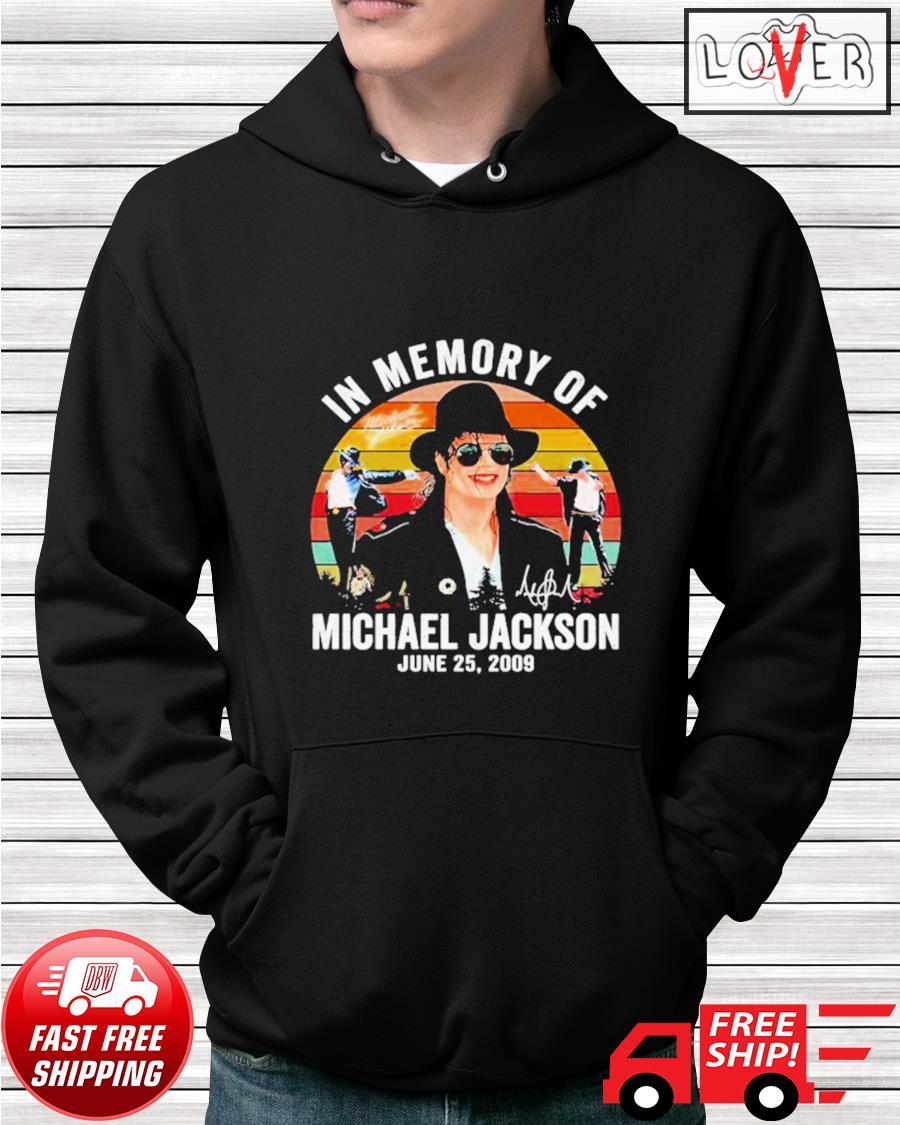 In memory of Michael Jackson June 25 2009 vintage hoodie