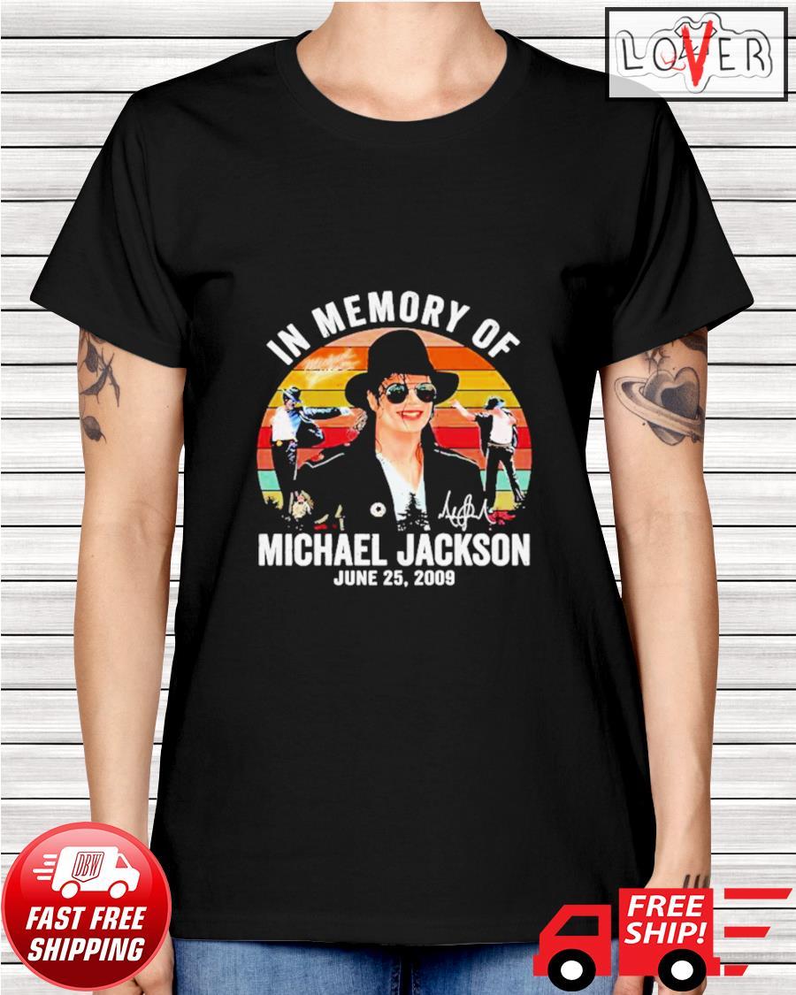 In memory of Michael Jackson June 25 2009 vintage ladies-tee