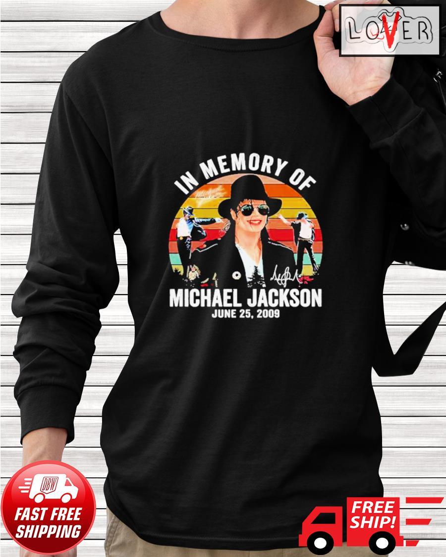 In memory of Michael Jackson June 25 2009 vintage longsleeve-tee