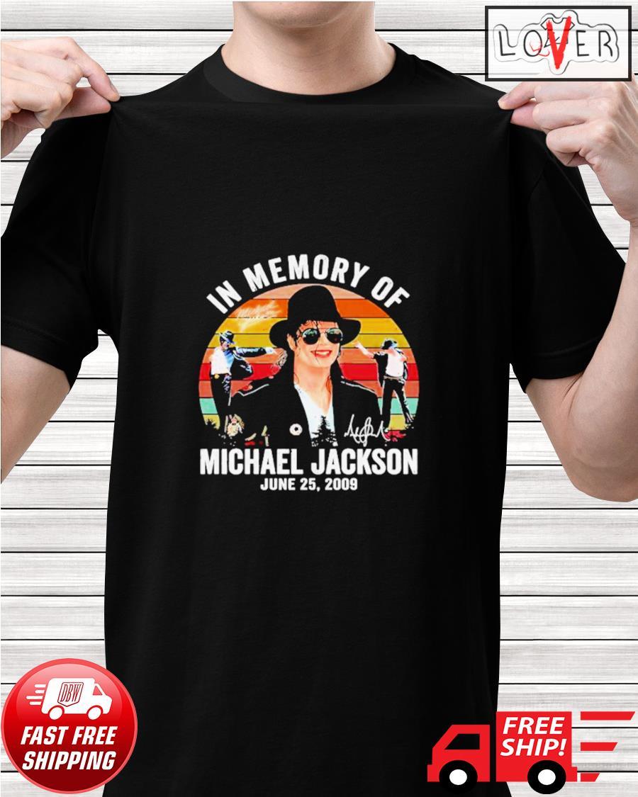 In memory of Michael Jackson June 25 2009 vintage shirt