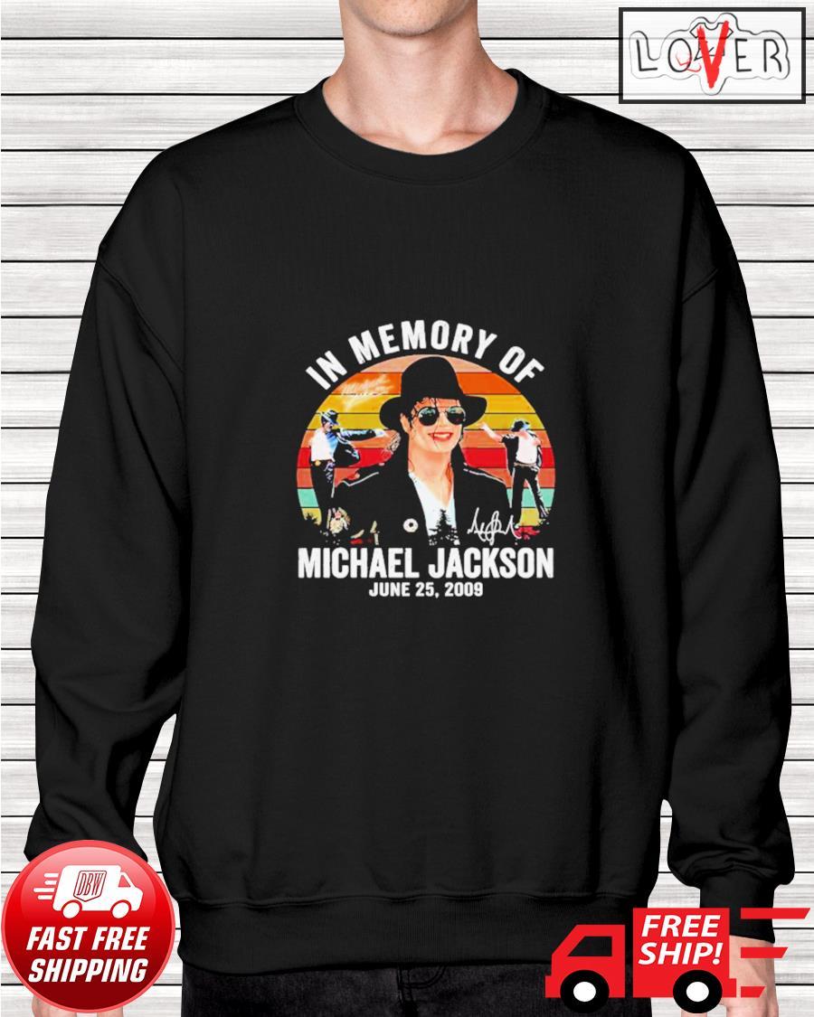 In memory of Michael Jackson June 25 2009 vintage sweater