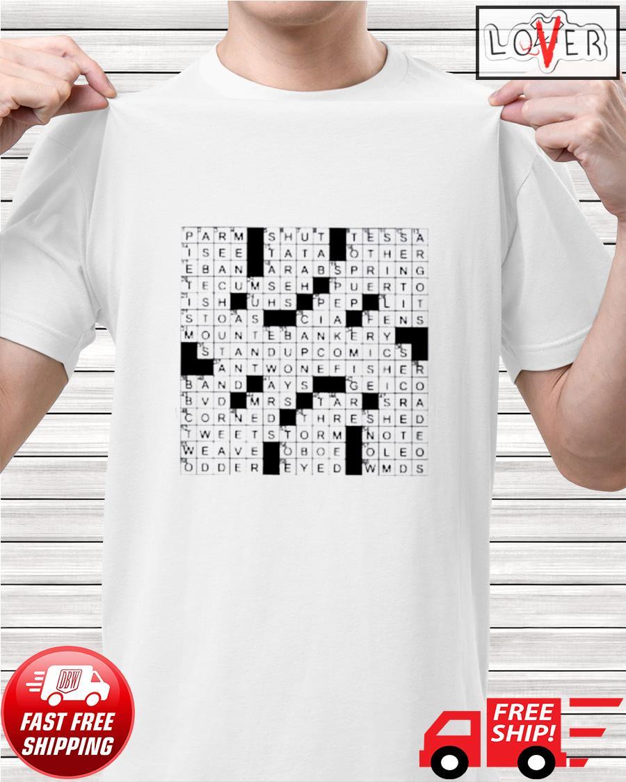 Legendary crossword clue shirt
