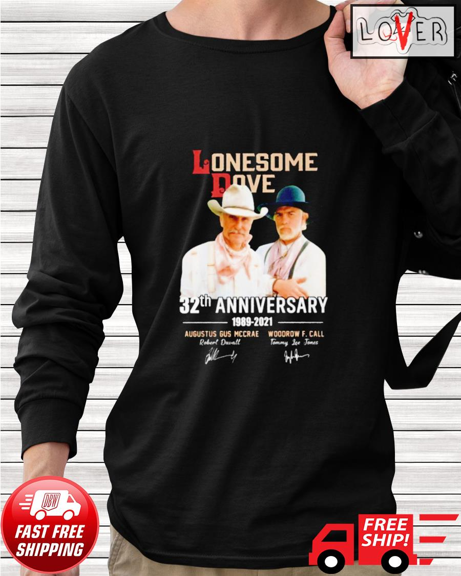 Lonesome Dove 32th anniversary 1989-2021 signatures longsleeve-tee