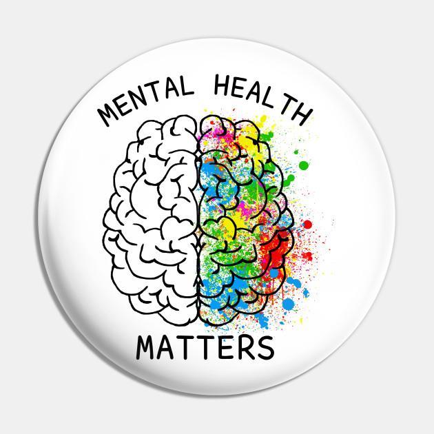Mental health matters pin