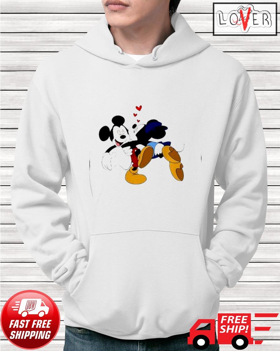 Minnie kisses Mickey Disney hoodie