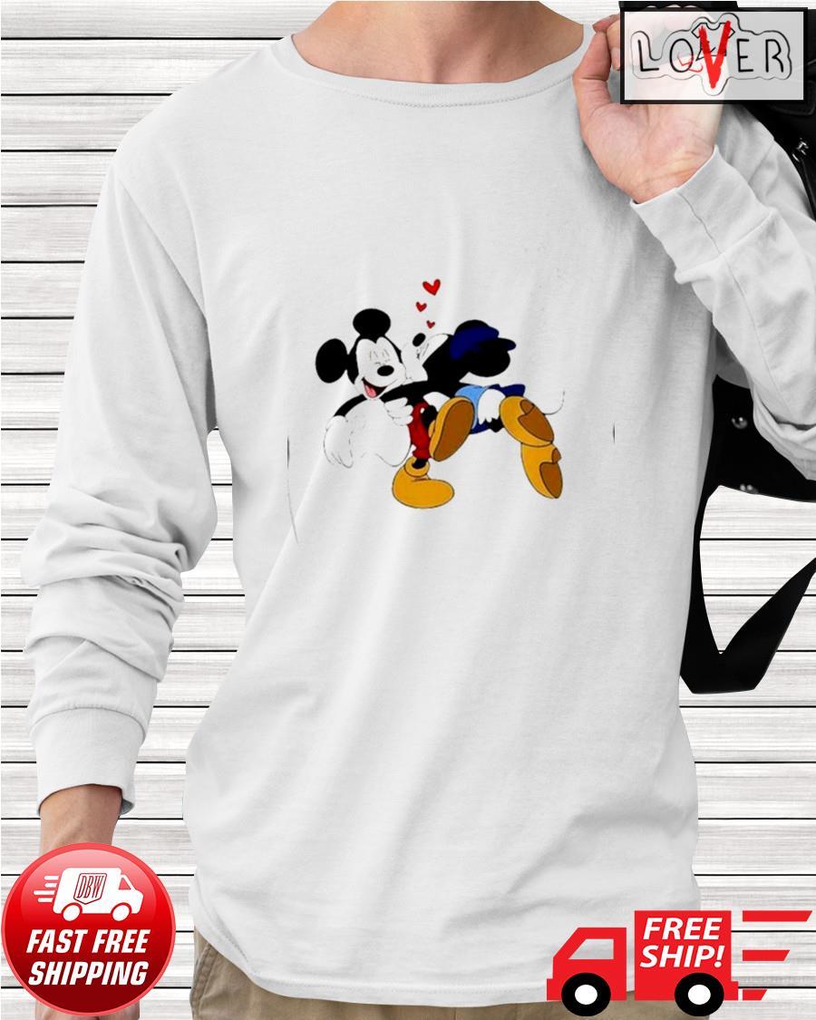 Minnie kisses Mickey Disney longsleeve-tee