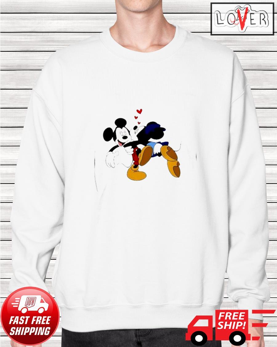 Minnie kisses Mickey Disney sweater