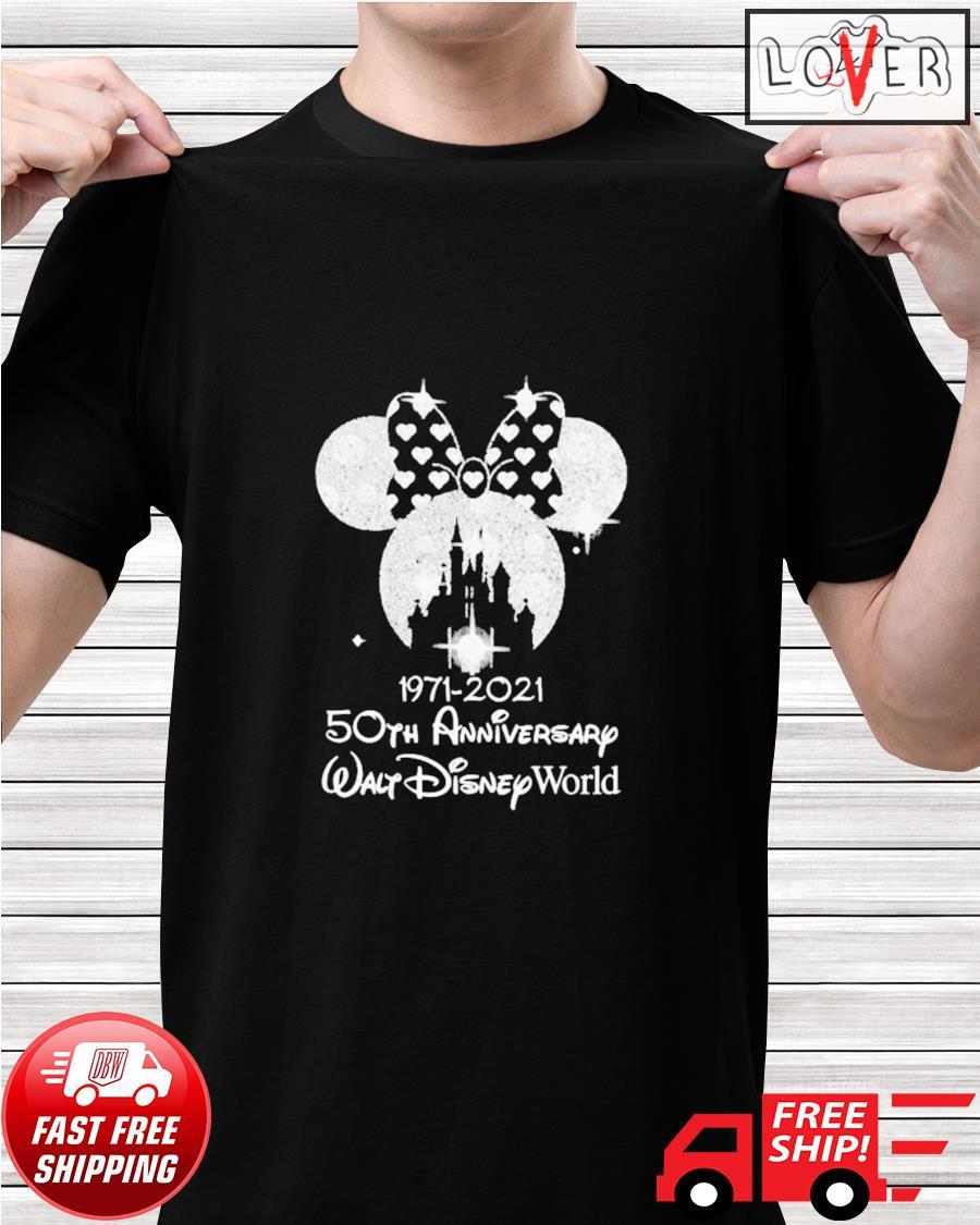 Minnie Mouse 1971 2021 50th anniversary Walt Disney World shirt