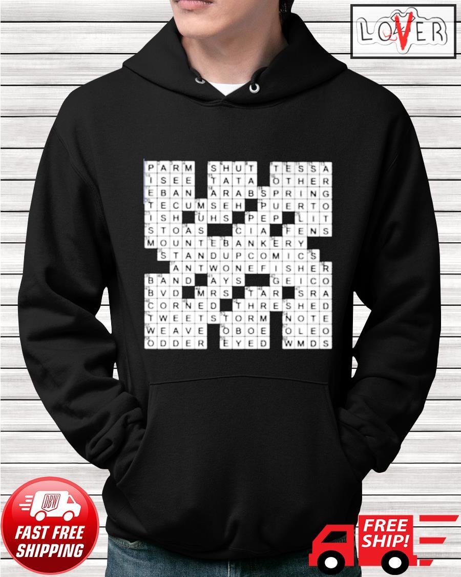 Stuffed crossword clue hoodie
