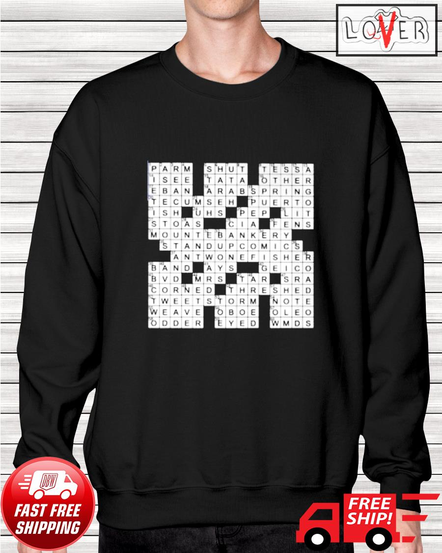 Stuffed crossword clue sweater