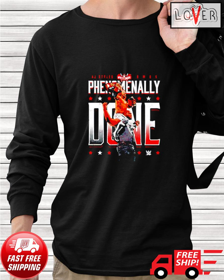 Superstars Wwe A.j. Styles and Omos Phenomenally Done longsleeve-tee