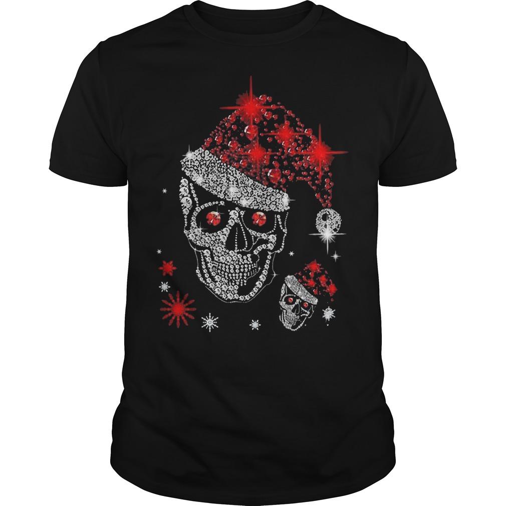 Christmas Skull Rhinestone classic guy