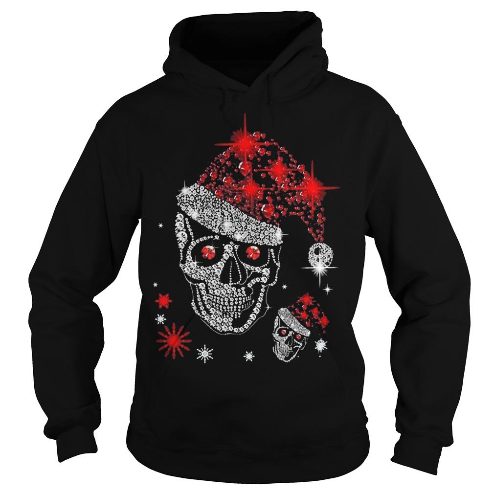 Christmas Skull Rhinestone hoodie
