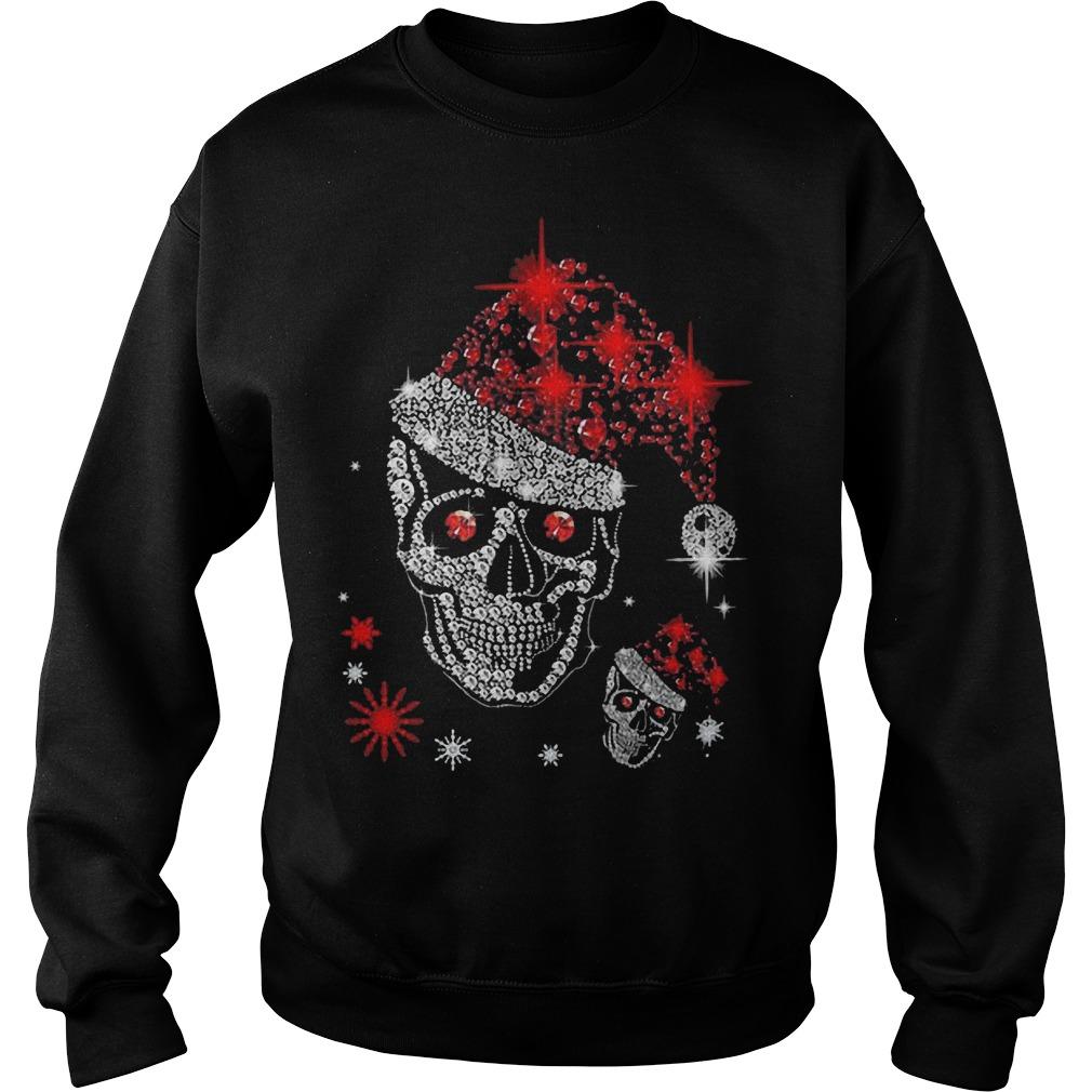 Christmas Skull Rhinestone sweater
