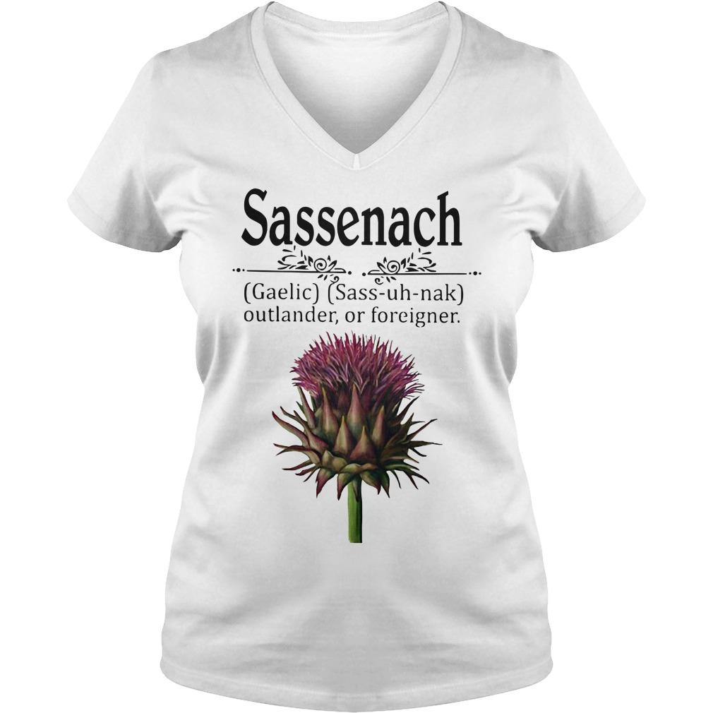 Sassenach gaelic sass uh nak outlander of foreigner V-neck