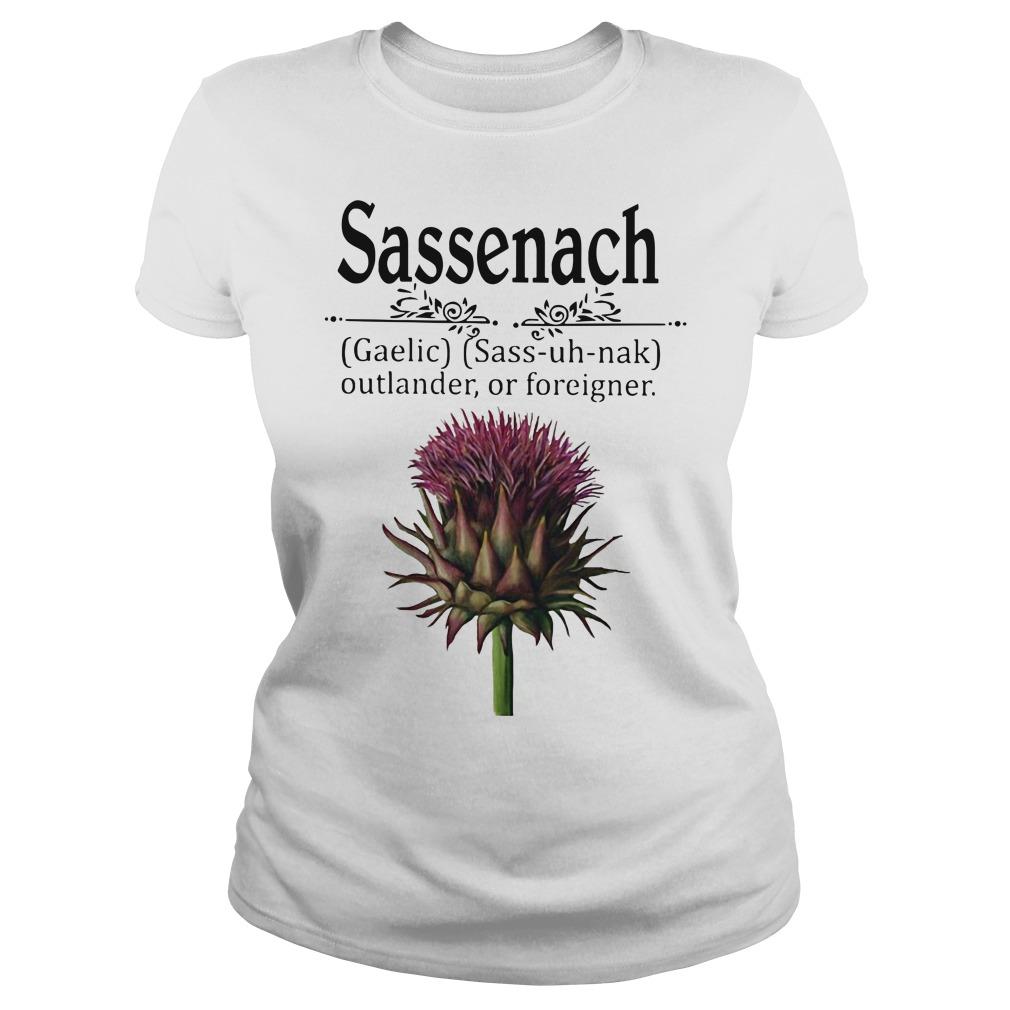 Sassenach gaelic sass uh nak outlander of foreigner ladies tee