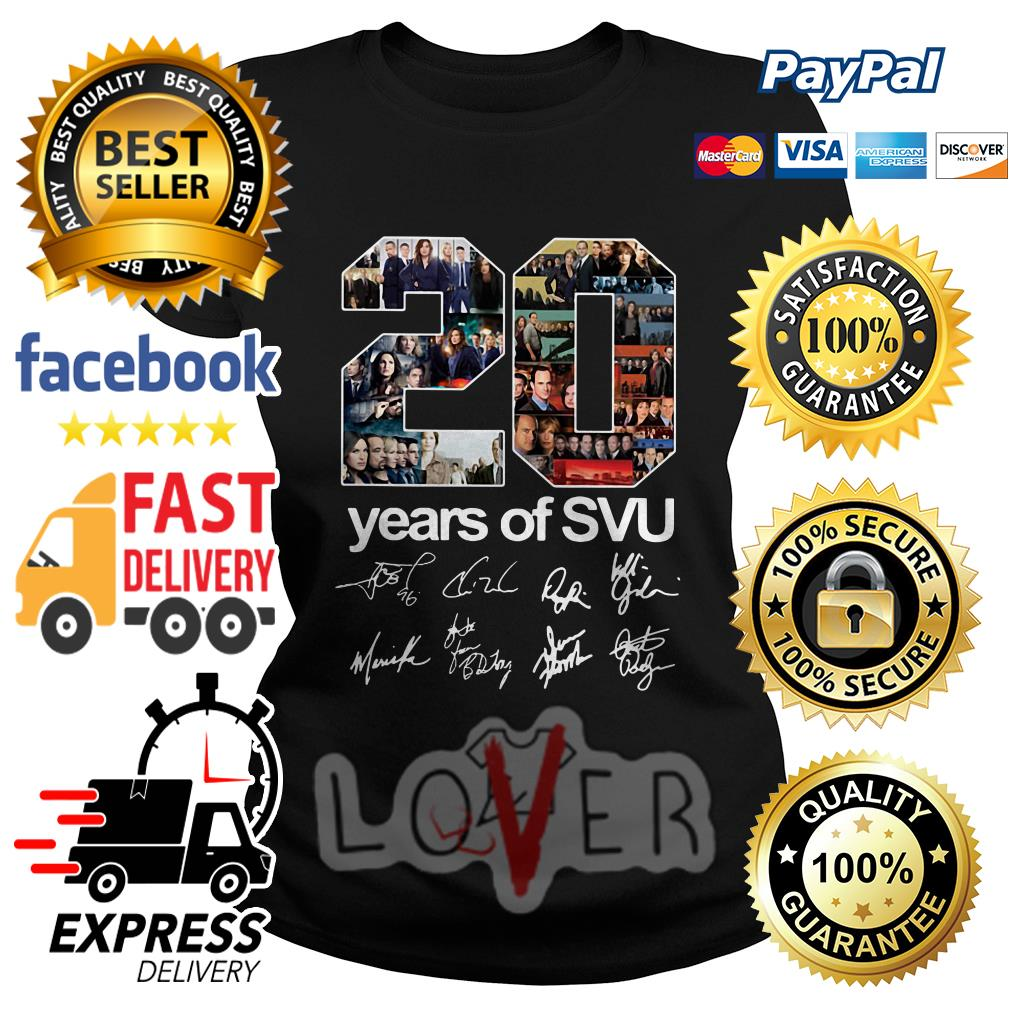 20 years of SVU Law and Order all signatures Ladies tee