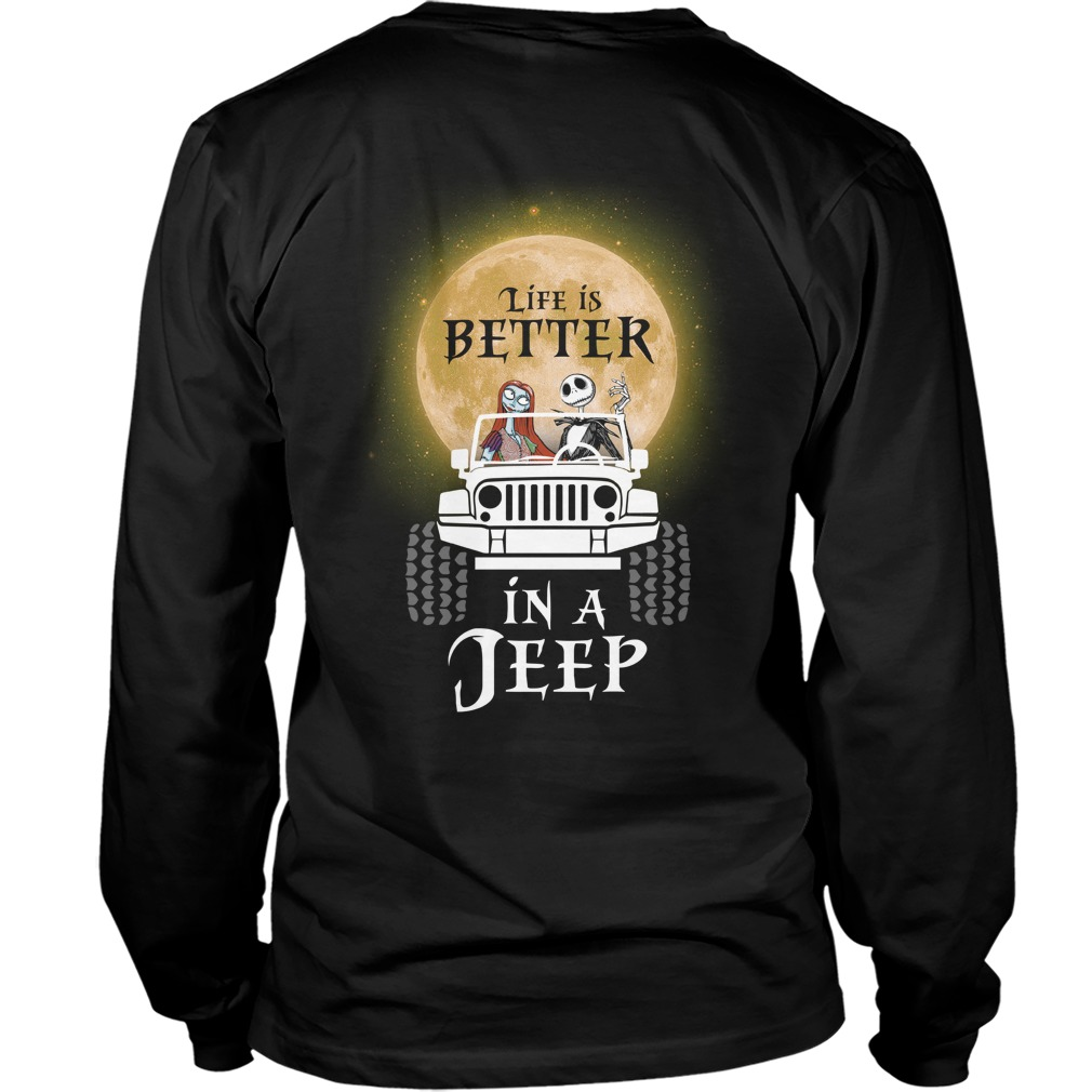 Jack Skellington and Sally life is better in a Jeep Sweater