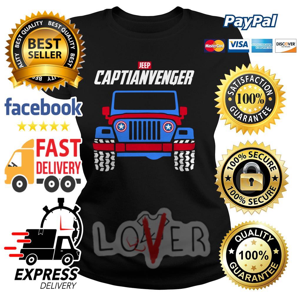 Marvel Avengers Endgame Jeep Captian Avengers Ladies tee