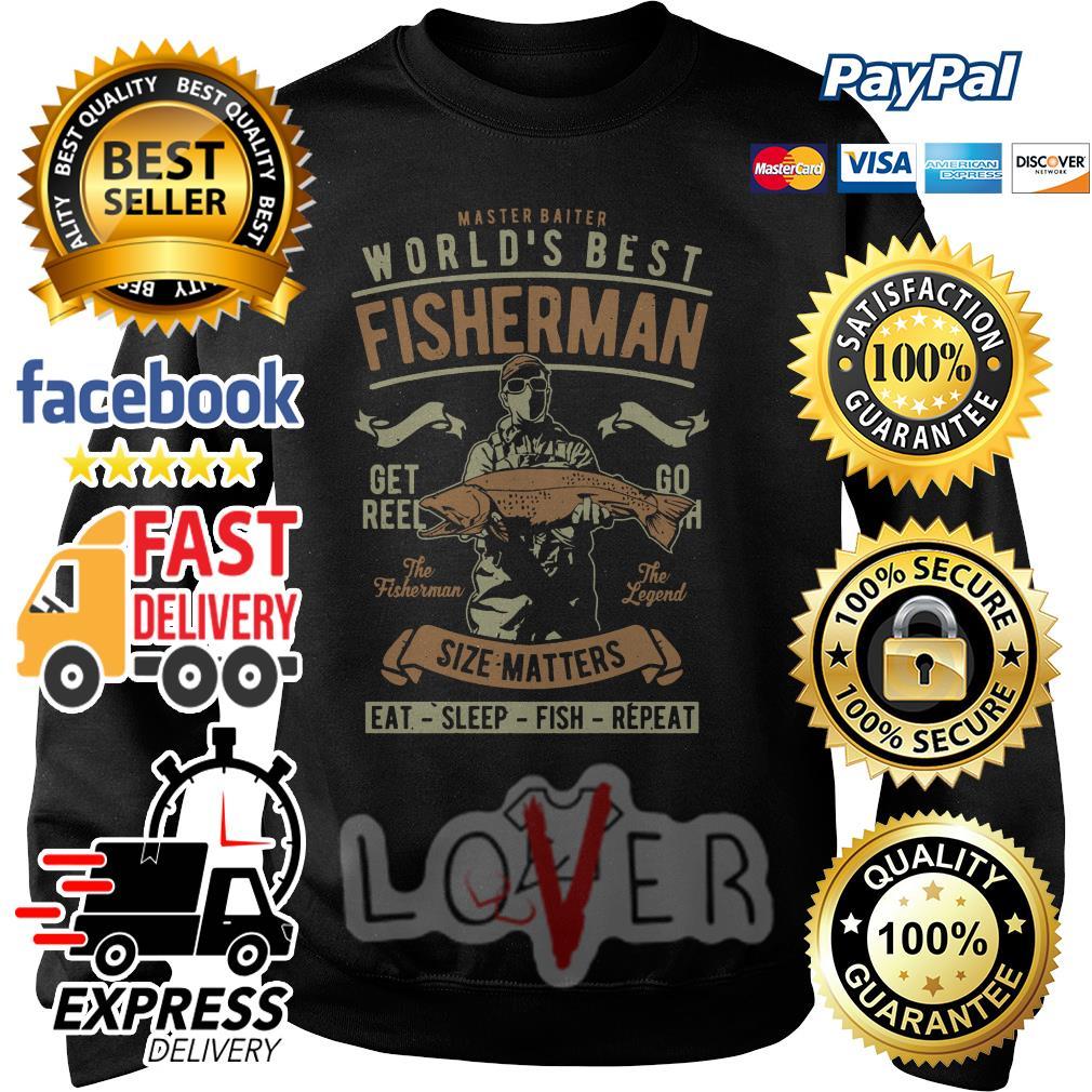 Master baiter world's best fisherman size matters Sweater