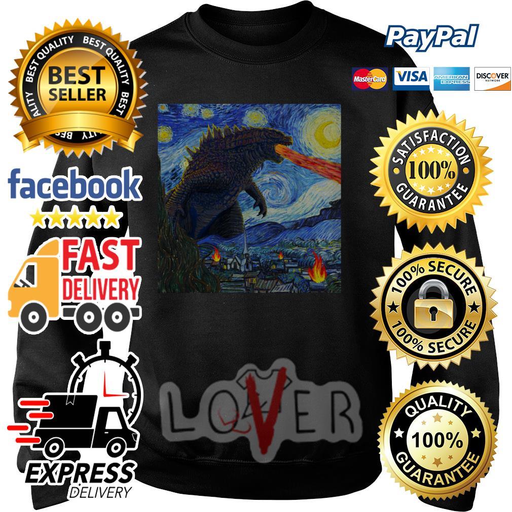 Starry Night Godzilla Sweater