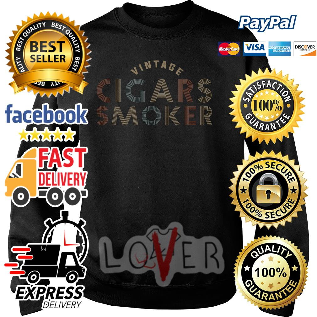 Vintage cigars smoker Sweater
