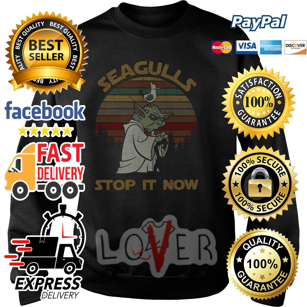 77629d113 Yoda Seagulls stop it now vintage shirt, hoodie, sweater