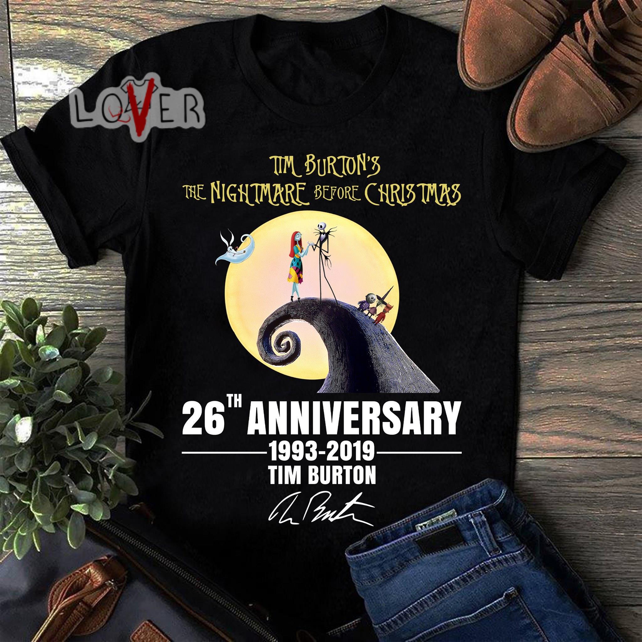 83f6d955 Jack Skellington and Sally Tim Burton's the nightmare before christmas 26th  Anniversary 1993-2019 Tim