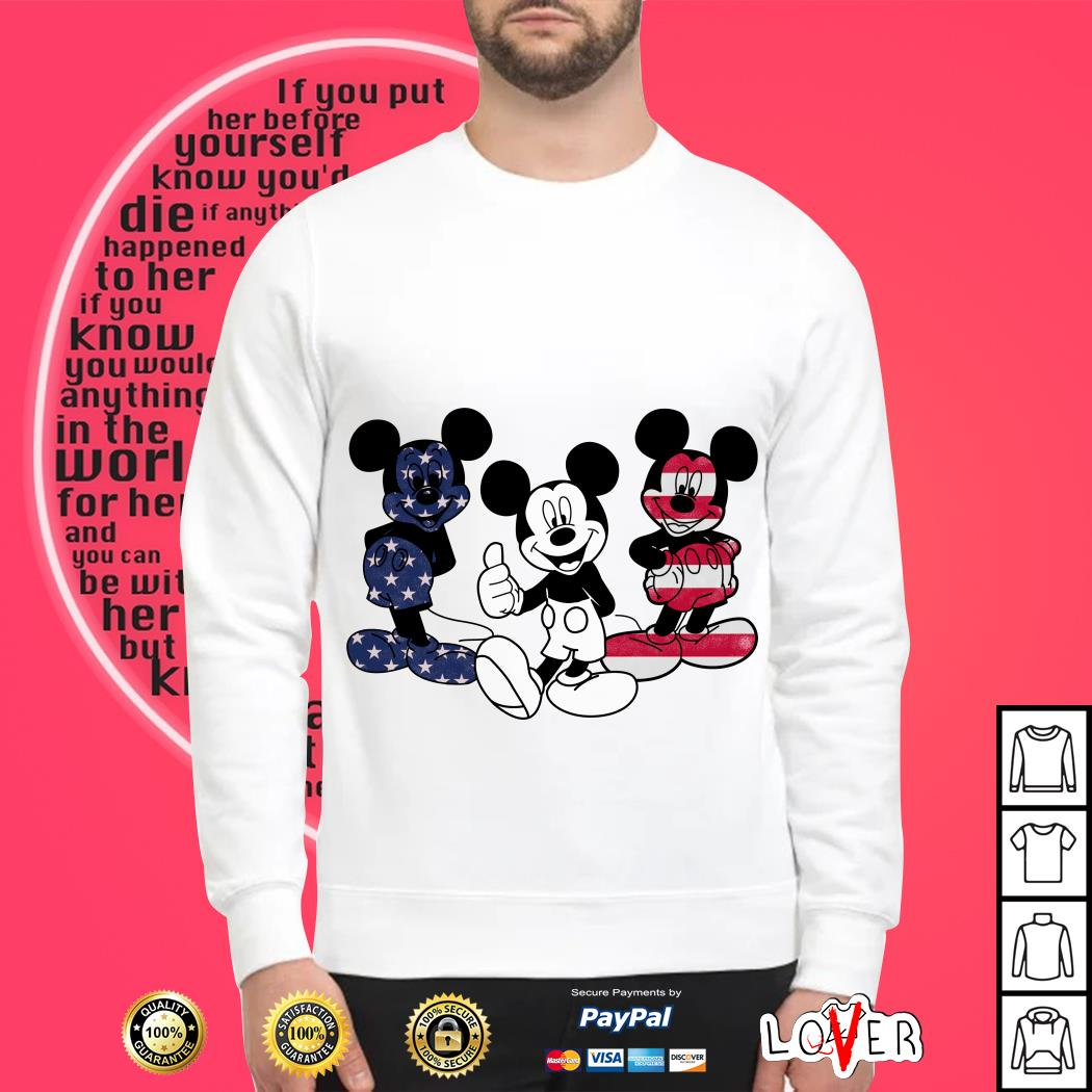 4th of July independence day Mickey Mouse American flag Sweater