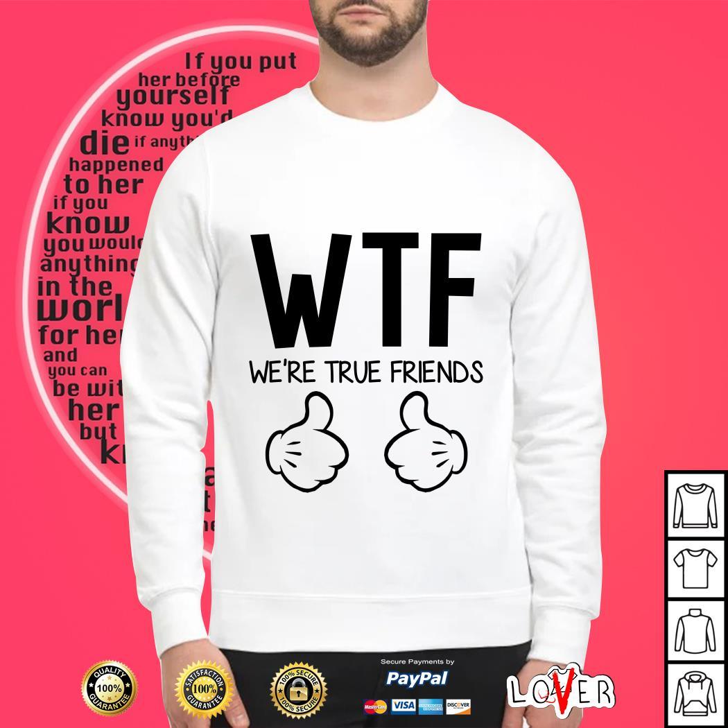WTF we're true friends Sweater