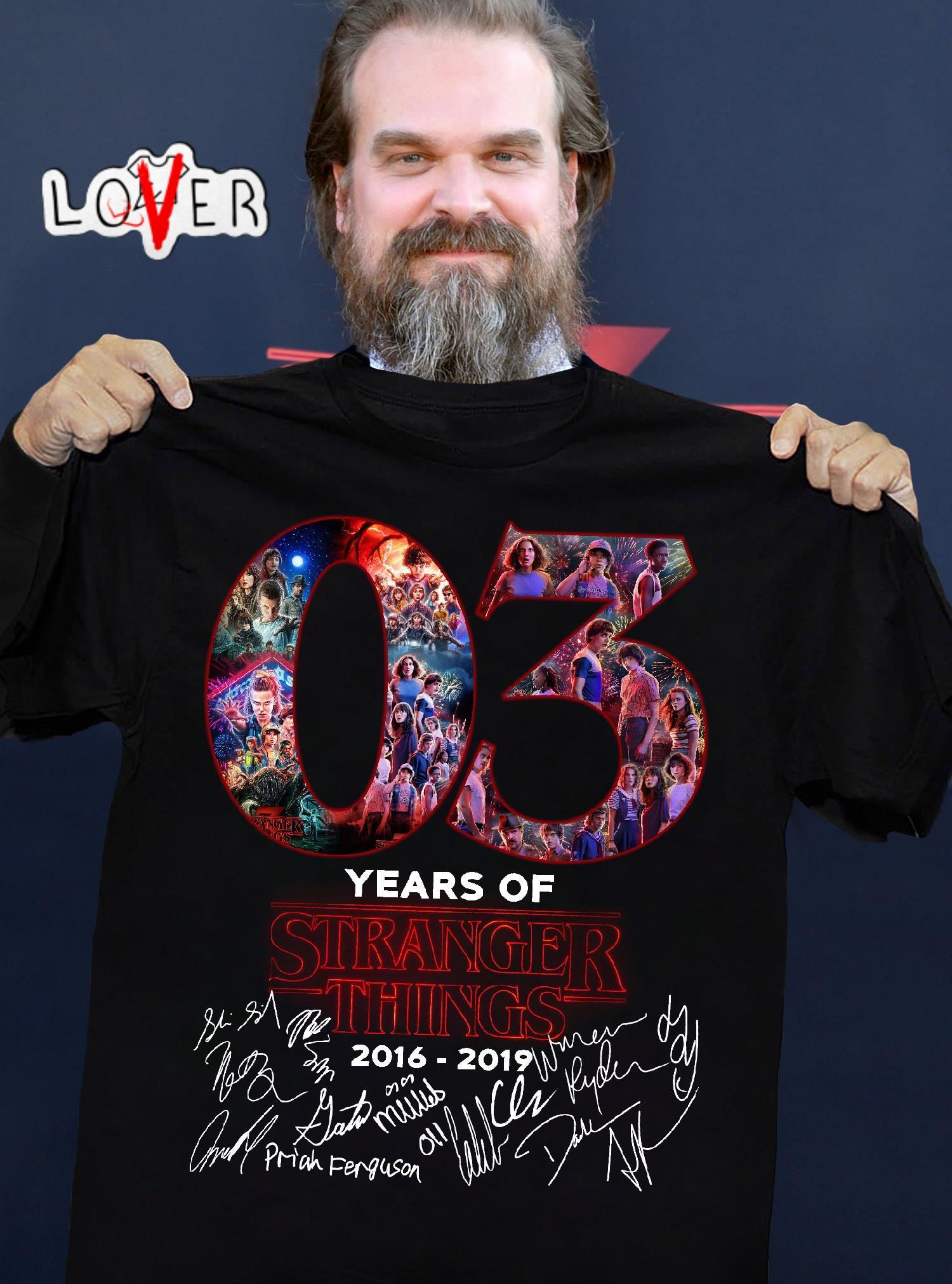 03 Years of Stranger Things 2016-2019 Signature shirt