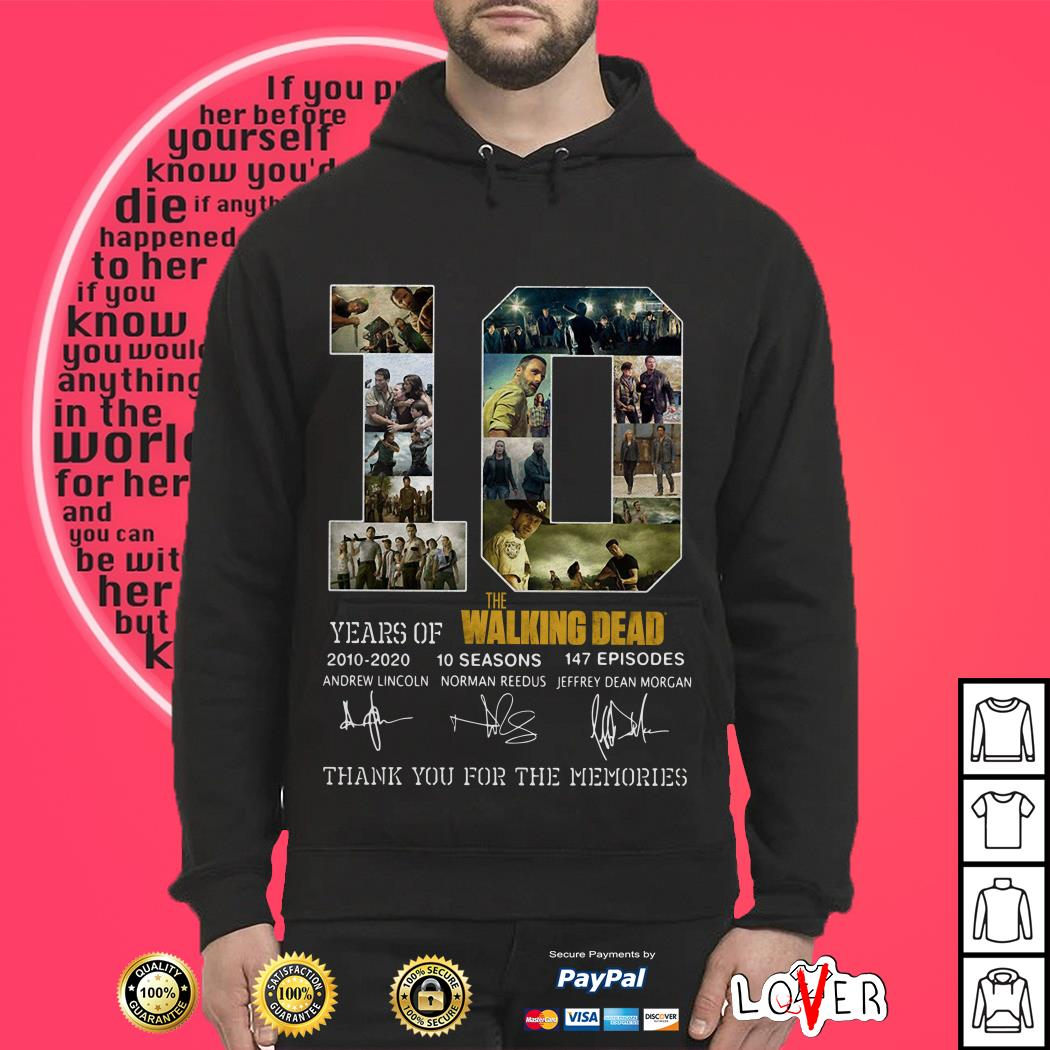 10th Years Of The Walking Dead 2010-2020 Signature Hoodie