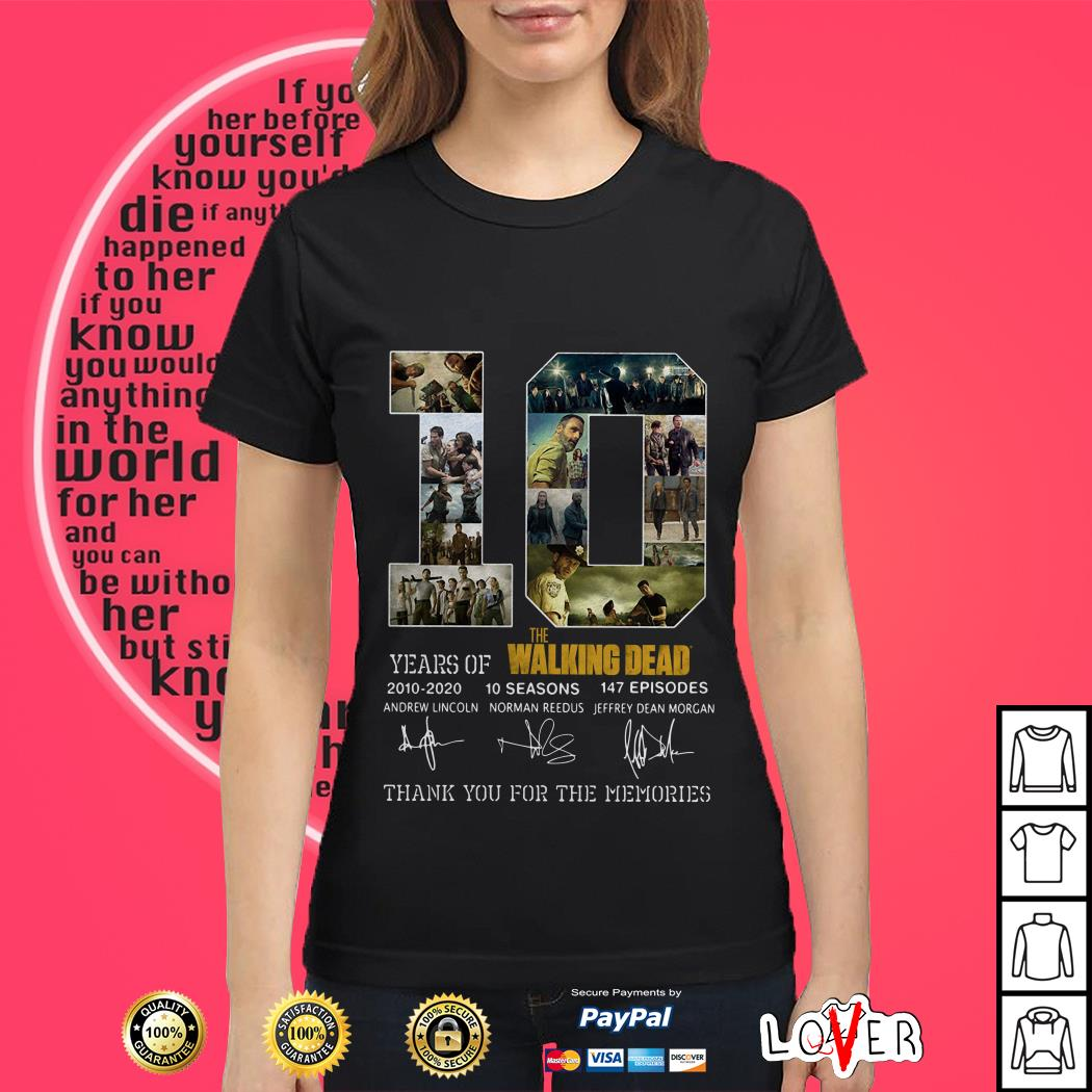 10th Years Of The Walking Dead 2010-2020 Signature Ladies tee