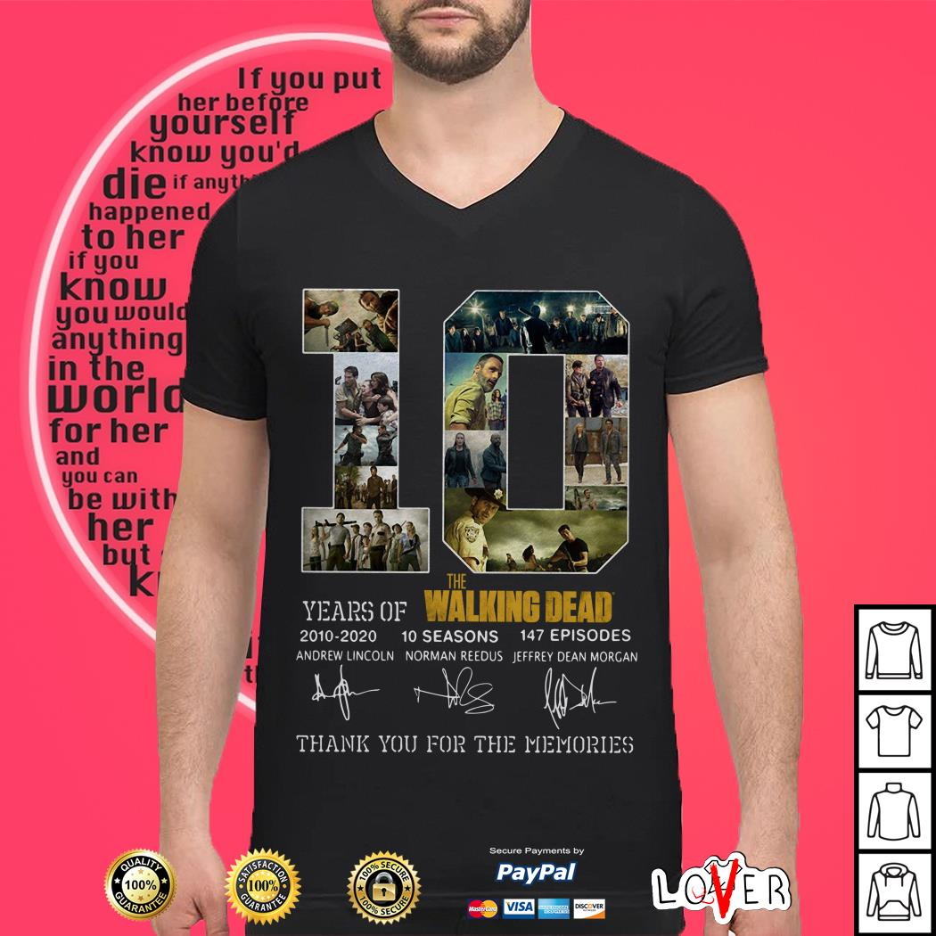10th Years Of The Walking Dead 2010-2020 Signature shirt