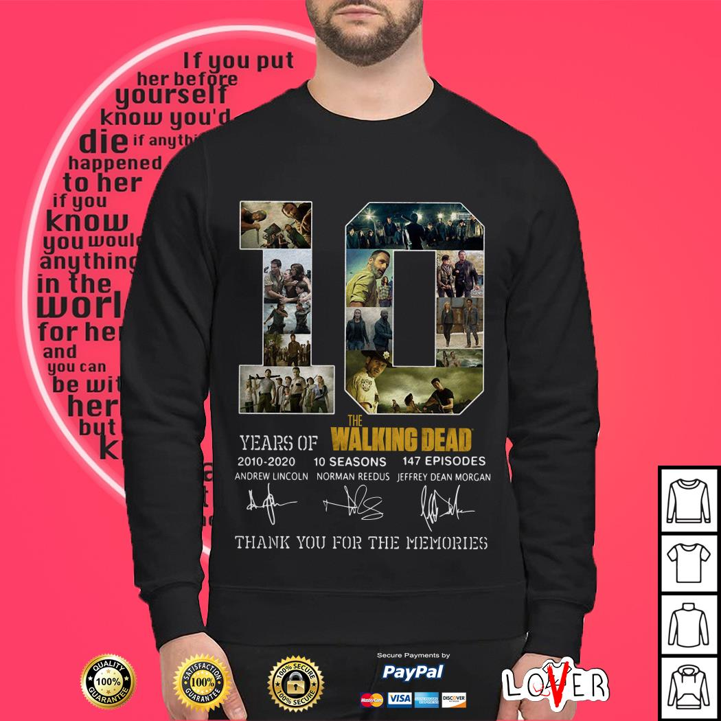 10th Years Of The Walking Dead 2010-2020 Signature Sweater