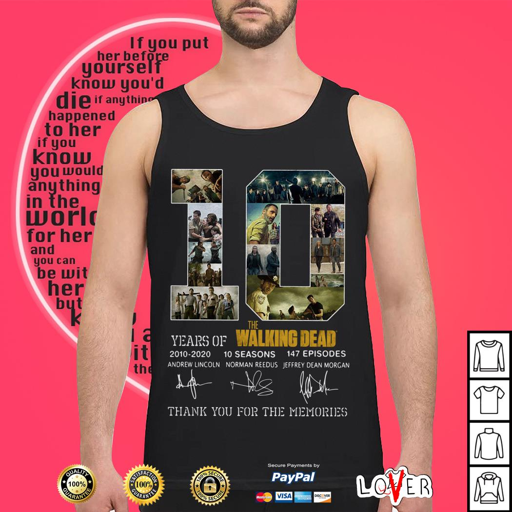 10th Years Of The Walking Dead 2010-2020 Signature Tank top