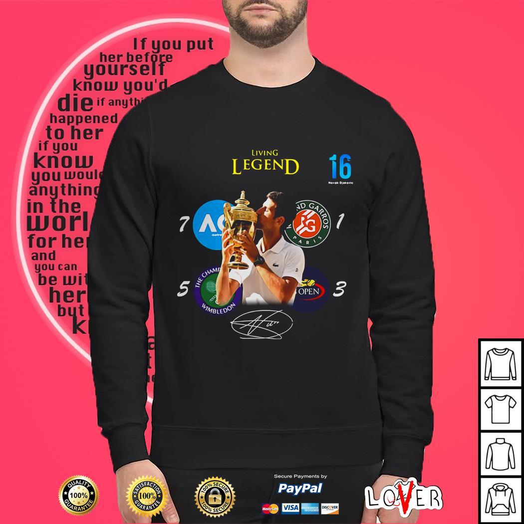16 Novak Djokovic living Legend signature Sweater