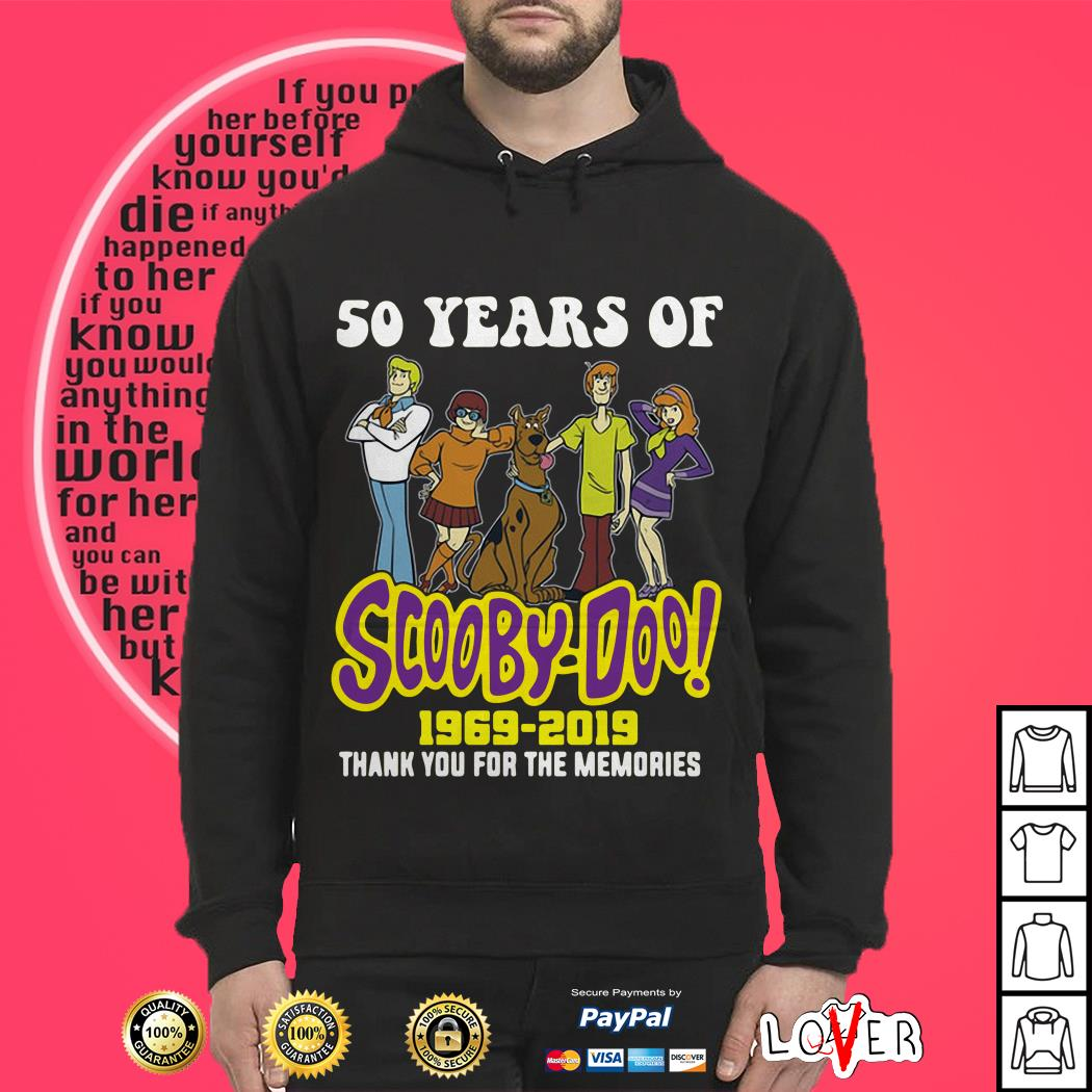 50 years of Scooby Doo 1969 2019 thank you for the memories Hoodie